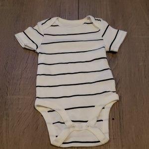 $1 w/ bundle! Black & White Striped Onesie